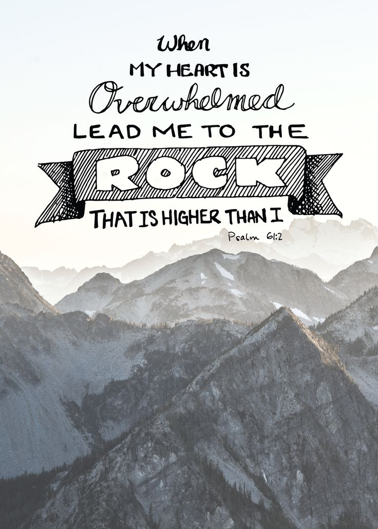 """""""From the end of the earth I call to you. When my heart is overwhelmed, lead me to the rock that is higher than I"""" - Psalm 61: 2 -I felt there could always be more of these so I made one myself."""