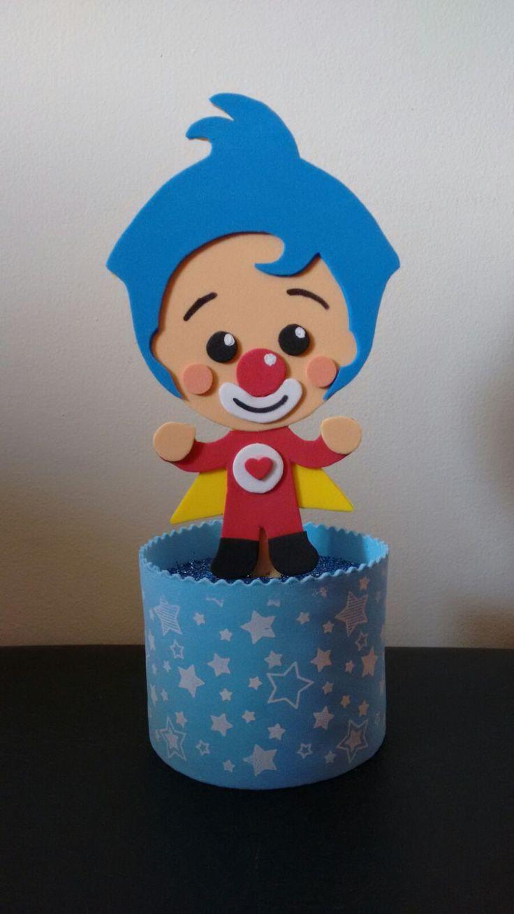 Palhaço Plim Plim - Um Herói do Coração El Payaso Plim Plim - Un Héroe delCorazón Enfeite para mesa de aniversário