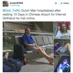 Man Waits in Chinese Airport for Online Girlfriend for 10 Days