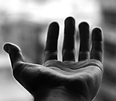 mano abierta: