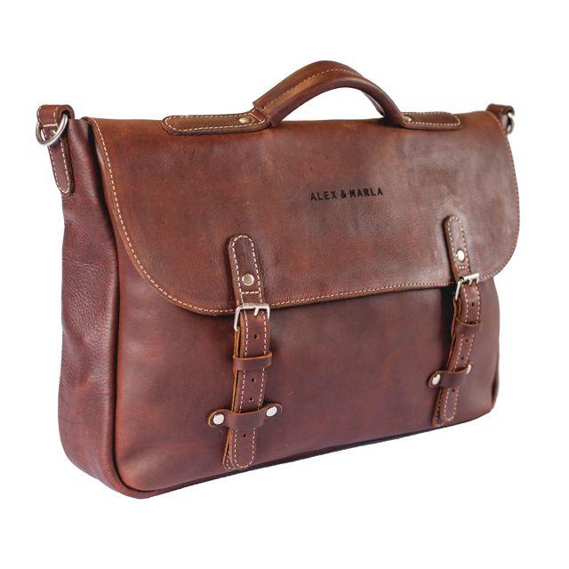 Leather Messenger Bag│ALEX