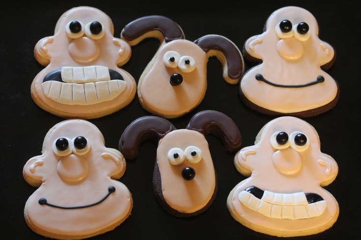 Wallace and Gromit cookies..... can i make these for your birthday??? So perfect! @Ellie Girardi