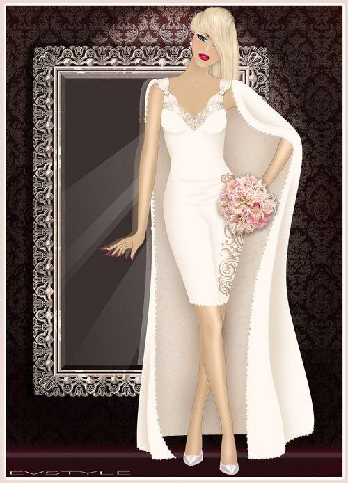 Эскиз Свадебного платья.