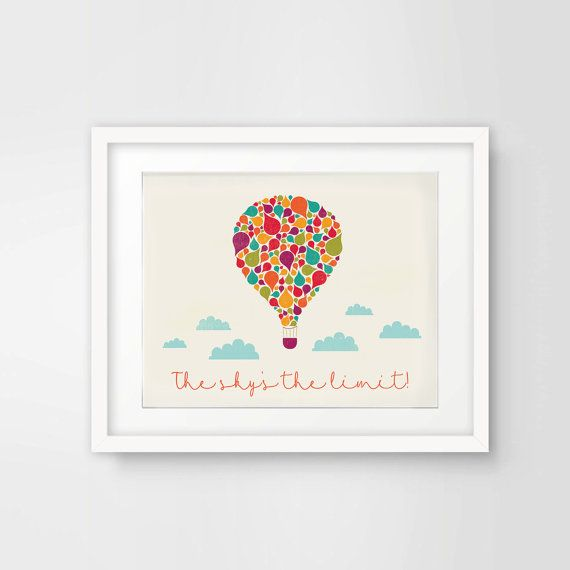The Sky's the Limit Printable by ShadesOfBlueDesign on Etsy