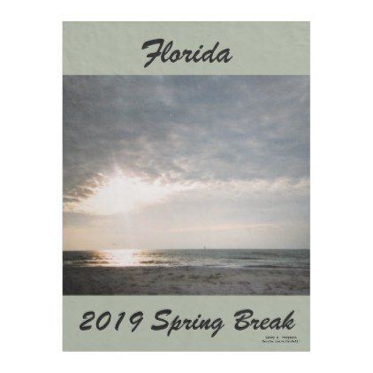 2019 SPRING BREAK SHAFT OF LIGHT FLEECE BLANKET | Zazzle.com