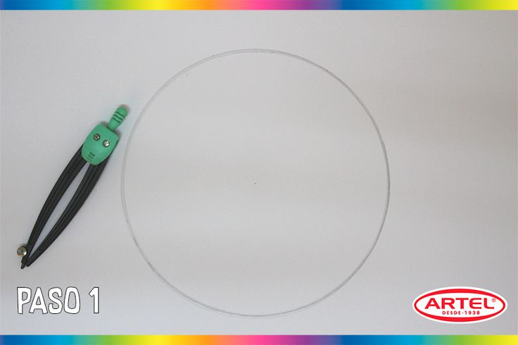 Sobre el Block, haz un círculo de 18cm de diámetro.