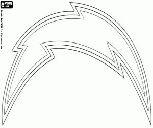 Coloriage Logo de San Diego Chargers