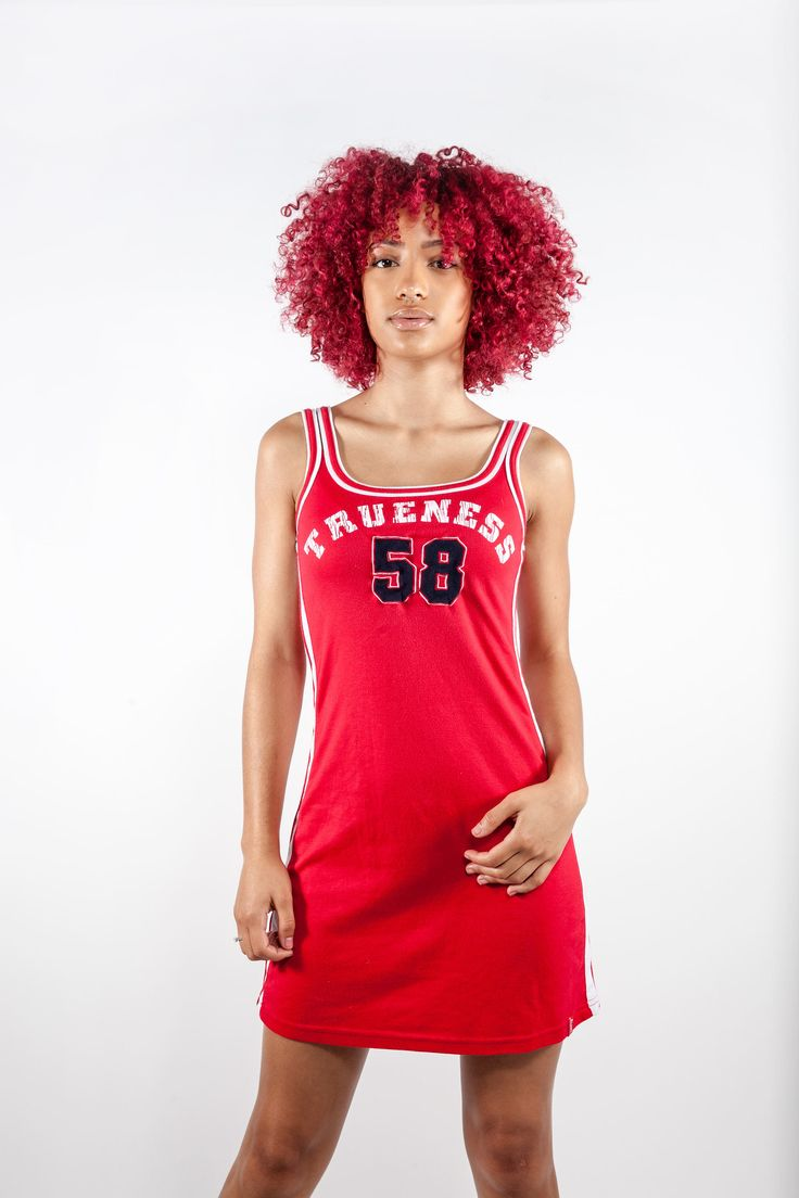Red vintage 90s sporty dress. Shop it here: https://www.etsy.com/nl/listing/549904651/vintage-jaren-90-sportieve-jurk-jaren  #spicegirls #reddress #90s #vintagedress