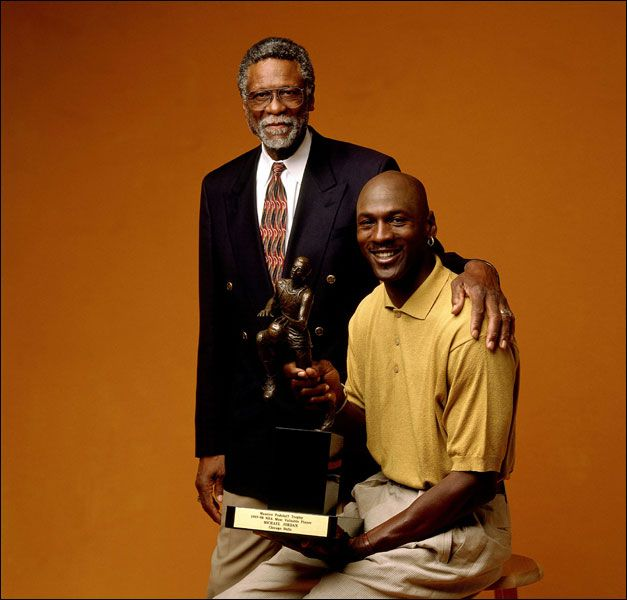 Bill Russell 11 Rings | NBA Legend Bill Russell & MVP Michael Jordan