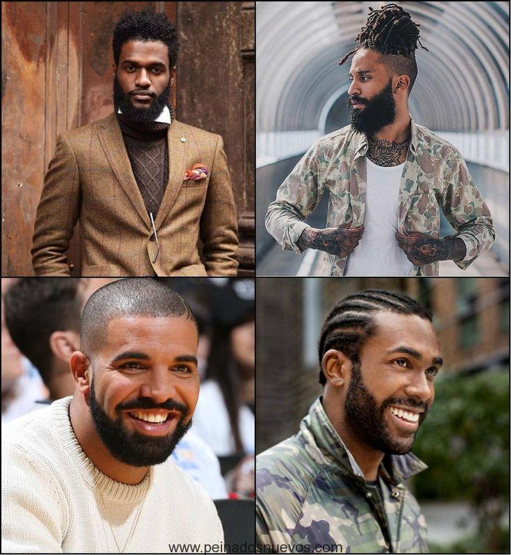 los mejores hombres negros peinados con barbas de 2017
