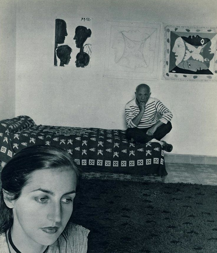 Francoise Gilot and Pablo Picasso, 1946.