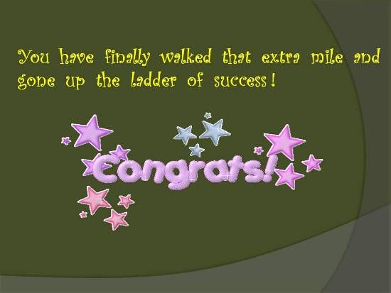 Send Congratulations : New Job Cards - Congratulate A Loved One. - srbhadran Free Online Greeting Cards