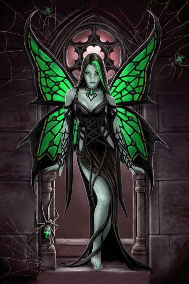 Green Gothic Fairy | Cool Wallpapers | Pinterest | Fairies ...