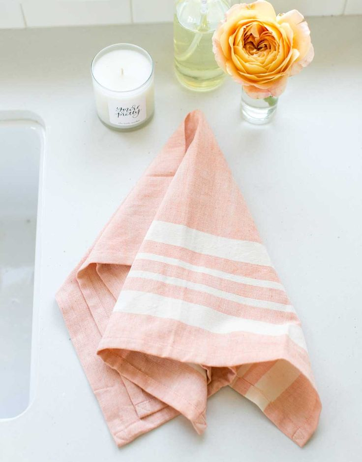 This Fair Trade Orange Striped Kitchen Towel Was Hand Woven On A Loom.  Every Purchase Of This Elegant Soft Dish Towel Goes Toward Supporting  Artisans In ...