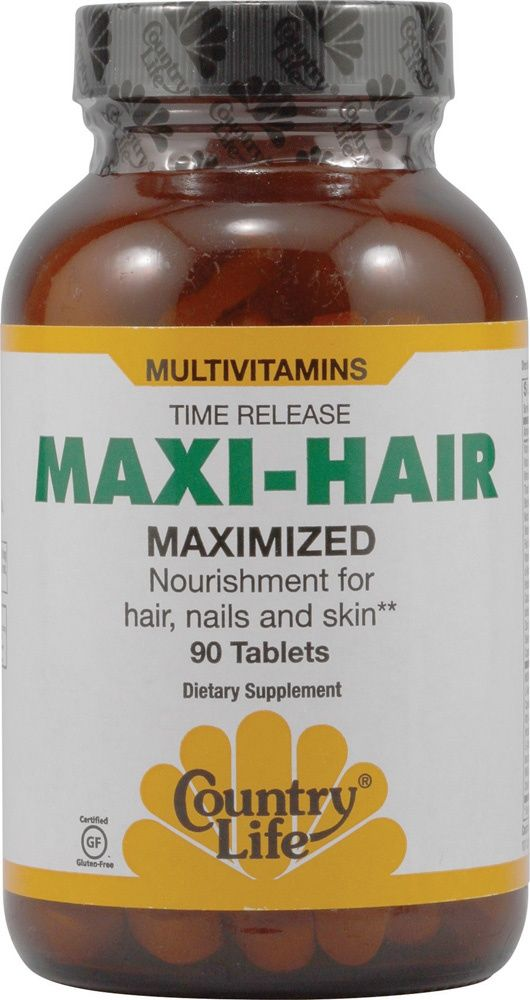 Country Life Time-Release Maxi-Hair -- 90 Tablets - Vitacost