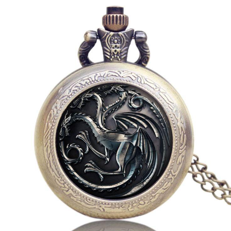 House Targaryen Vintage Pocket Watch //Price: $11.79 & FREE Shipping //     #GameofThronesFinale #daenerystargaryen