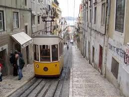 Lisbon , the typical tram    Portugal