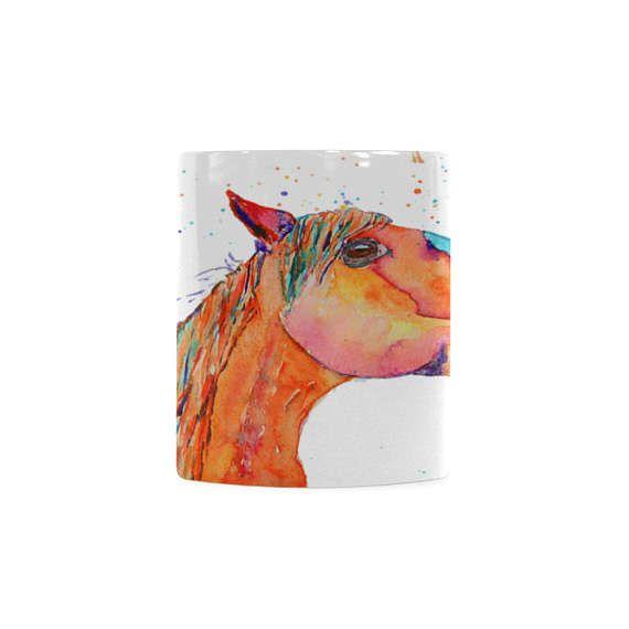 Memorable gift for horse rider. Arabian horse watercolour