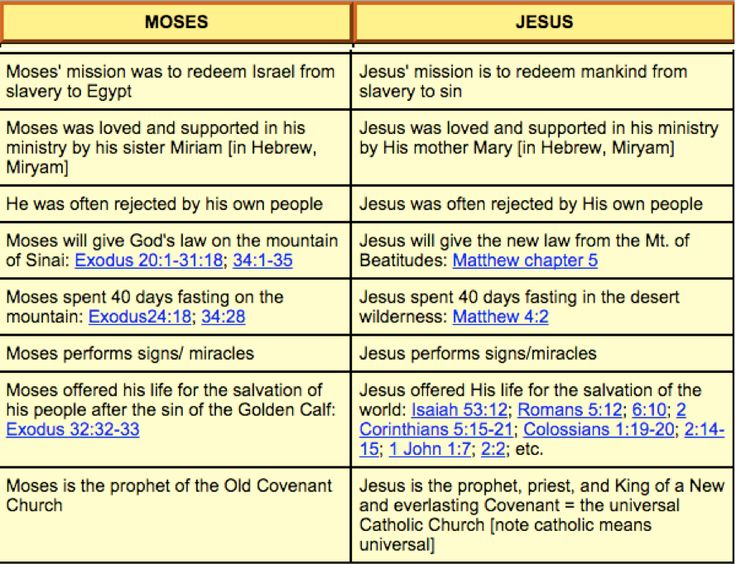 jesus vs moses The leadership style and characteristics of moses 1  this fulfillment is manifest in moses' appearing with jesus at the transfiguration) deut 34:10-12.