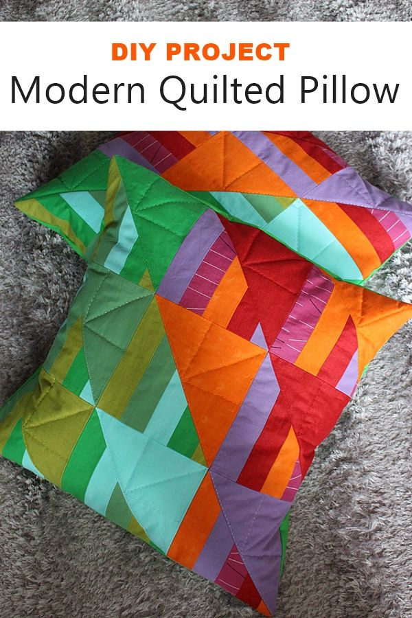the creative night shift: DIY Modern Quilted Pillow