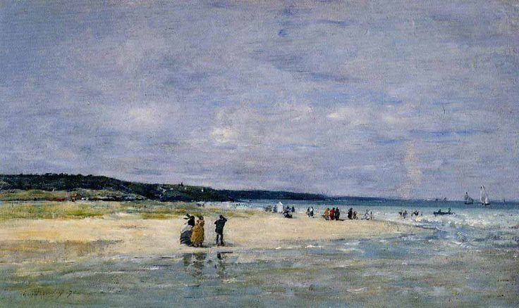 Eugene Boudin..upon his advice Monet began painting outdoors-- and Impressionism was born!