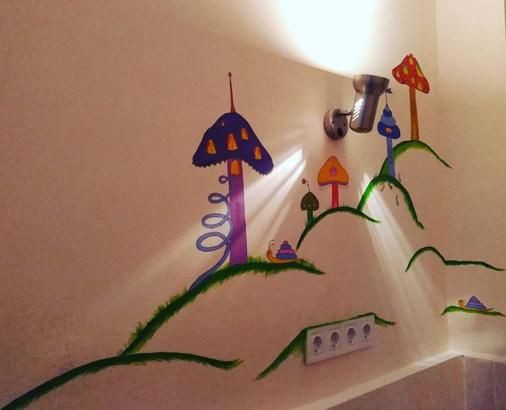 Mushroom city by Ieva Krivma Art At Sofia Children Hospital