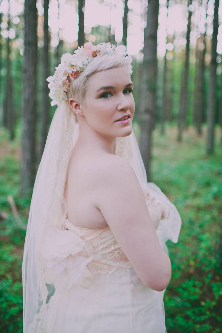 Pixie Bride in a Flower Crown Wedding - Sassyfras Studios