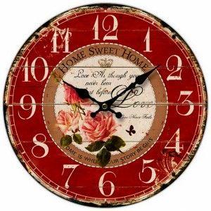 Ρολόι τοίχου ξύλινο 58 εκ. Home Sweet Home http://www.shopee.gr/diakosmisi-organosi/roloi-toixou-ksylino-58-home-sweet-home.html