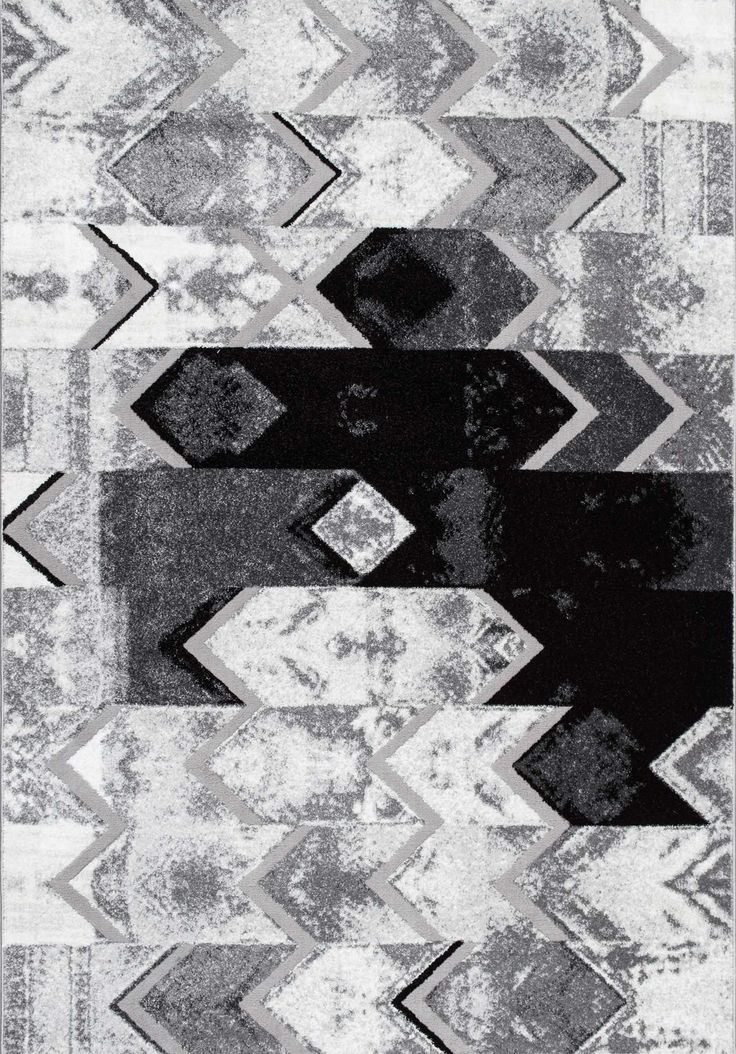 Keeping it simple with Rugs USA's Urban Nights MN02 Abstract Uneven Chevron Rug!