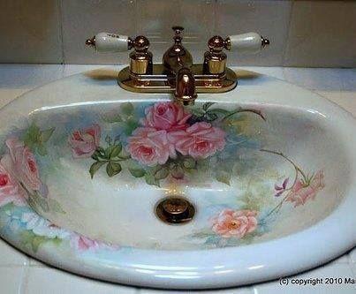 Shabby Chic Rose basin