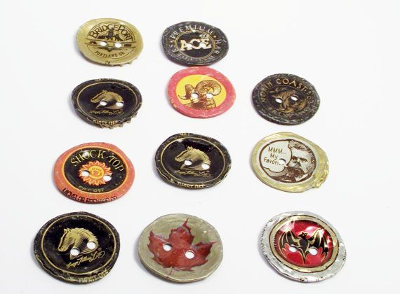 Recycled Bottlecap Buttons by ourchildrensearth on Etsy on Wanelo