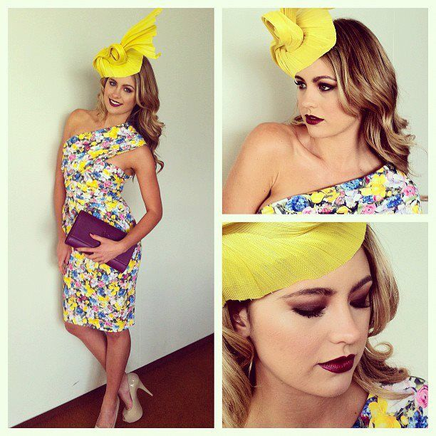 It's Oaks Day and a stunning selection of beautiful spring dresses and looks are hitting the field - including the stunning Jesinta Campbell sporting her best look of the week - starring a luscious Vamp Lip Colour from Vani-T!