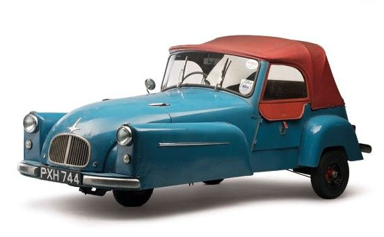 1953 Bond Minicar Mk C - Only the Mark F version of the Bond Minicar outsold the Mark C – and it was by less than 100 units. In total, 6,399 Mark Cs were built between 1952 and 1956. The Mark C was a marked improvement in design and quality over the earlier Mark Bs – it looked more like a car from the front. It used a 197cc single-cylinder making nine horsepower.