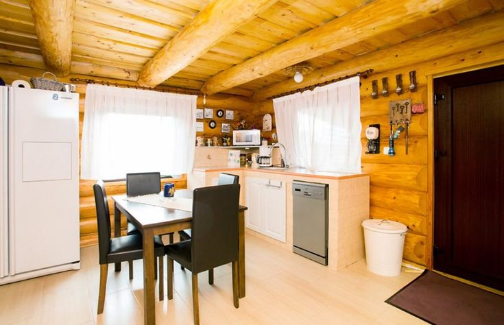 Fabrika de Case - Cabana in Marginimea Sibiului / #LogHouse near #Sibiu #Rustic #Kitchen