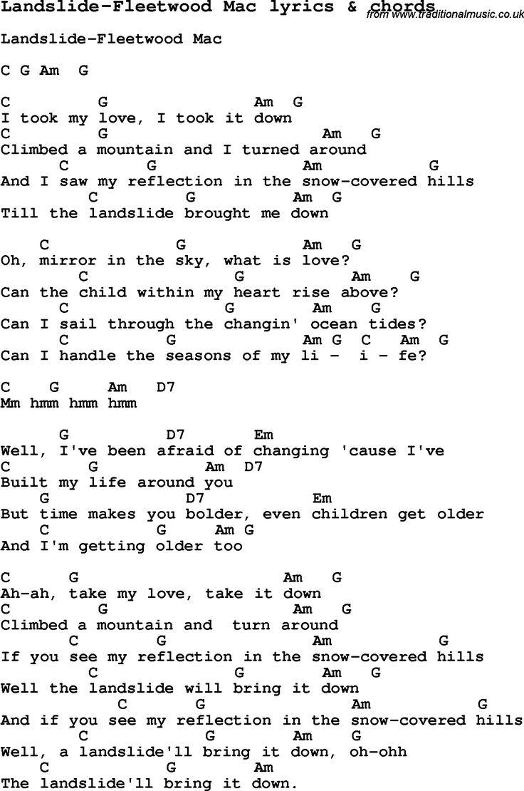 Our house chords - Landslide Fleetwood Mac