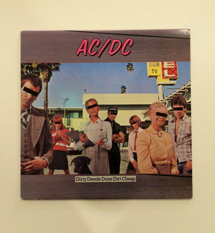 AC/DC - Dirty Deeds Done Dirt Cheap  vinyl record album LP