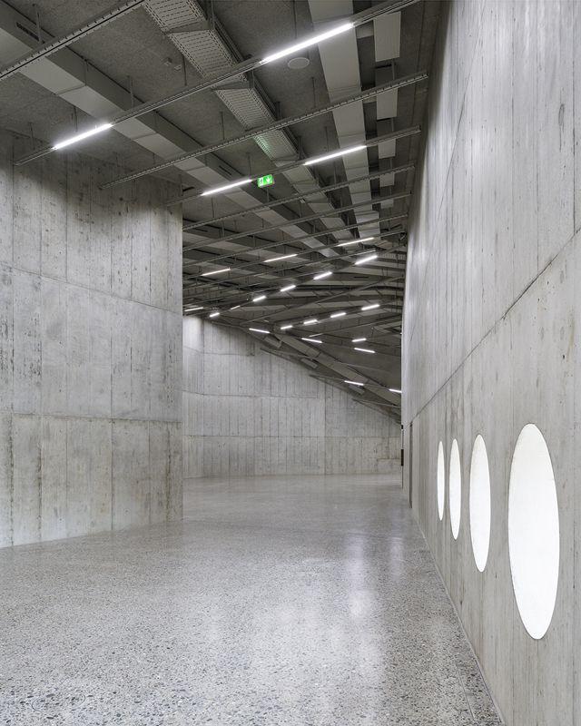 Die neuen Räume als museale Werkhallen.