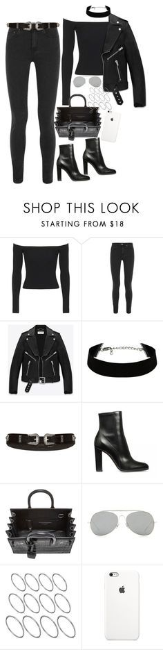 """""""Untitled #1603"""" by samikayy76 on Polyvore featuring Topshop, Acne Studios, Yves Saint Laurent, River Island, ASOS, women's clothing, women, female, woman and misses"""