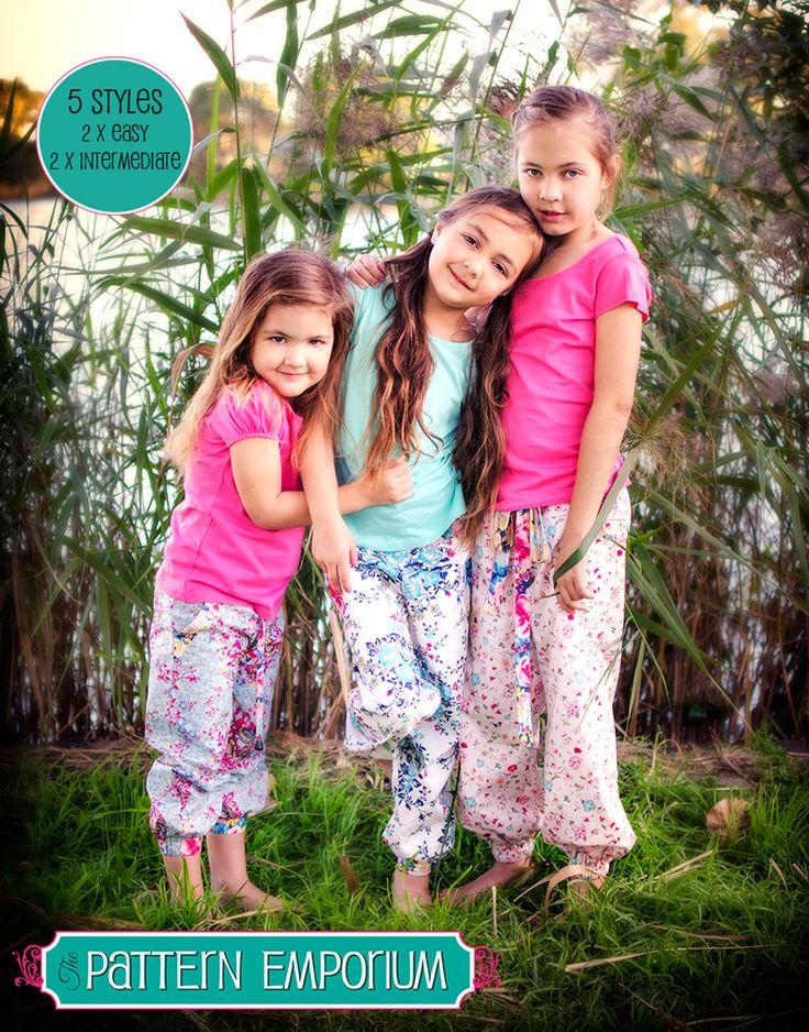 Image of Little Miss Fancy Pants -Harem Pants PDF Pattern (PE1306)