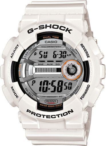 "White G shock watch ""GD110-7"""