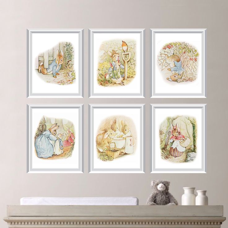 Peter Rabbit Nursery Decor. Baby Nursery Print Art. Peter Rabbit Nursery Art. Beatrix Potter Art. Peter Rabbit Bedroom Art. Canvas. (NS-669) by RhondavousDesigns2 on Etsy https://www.etsy.com/listing/205117374/peter-rabbit-nursery-decor-baby-nursery