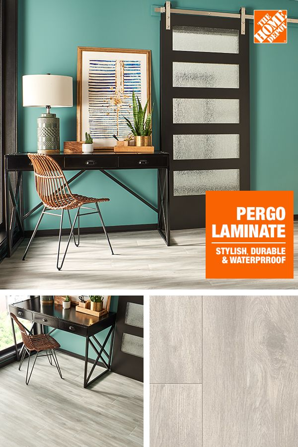 Pergo Outlast Waterproof Glazed Oak 10 Mm T X 7 48 In W X 54 33 In L Laminate Flooring 1015 8 Sq Ft Pallet Lf000923p The Home Depot In 2020 Home Design Decor Home Study Room Decor