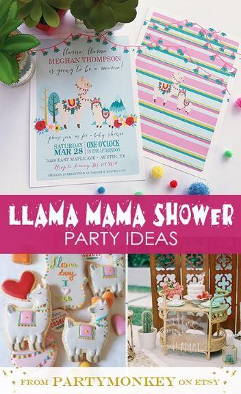 71d78ee973171 Llama Baby Shower ideas from PartyMonkey on Etsy #babyshower  #llamababyshower #llamashower #llamaparty