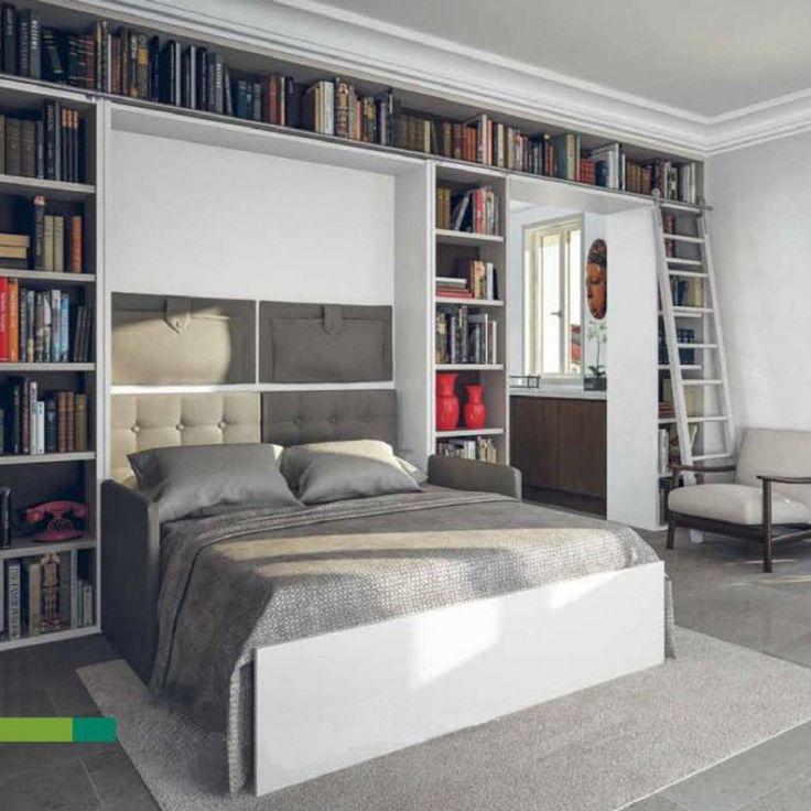 17 best ideas about armoire lit escamotable on pinterest for Lit double escamotable