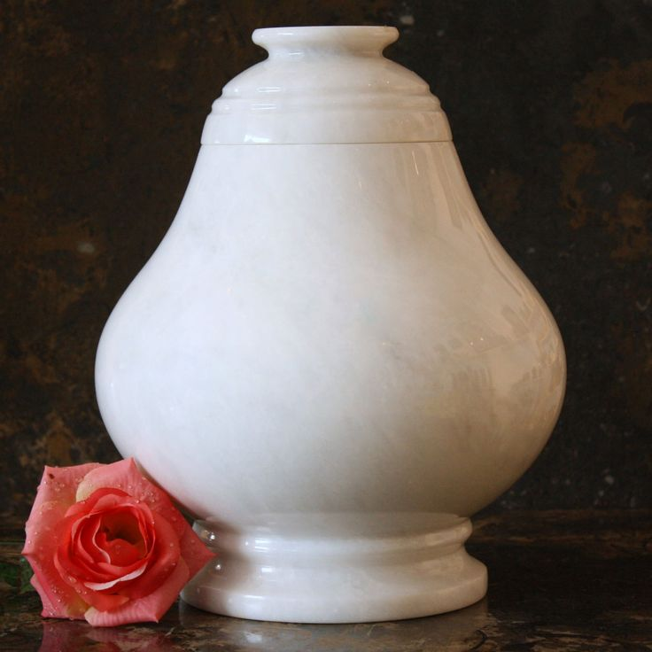Equator White Pet Cremation Urn - EW101