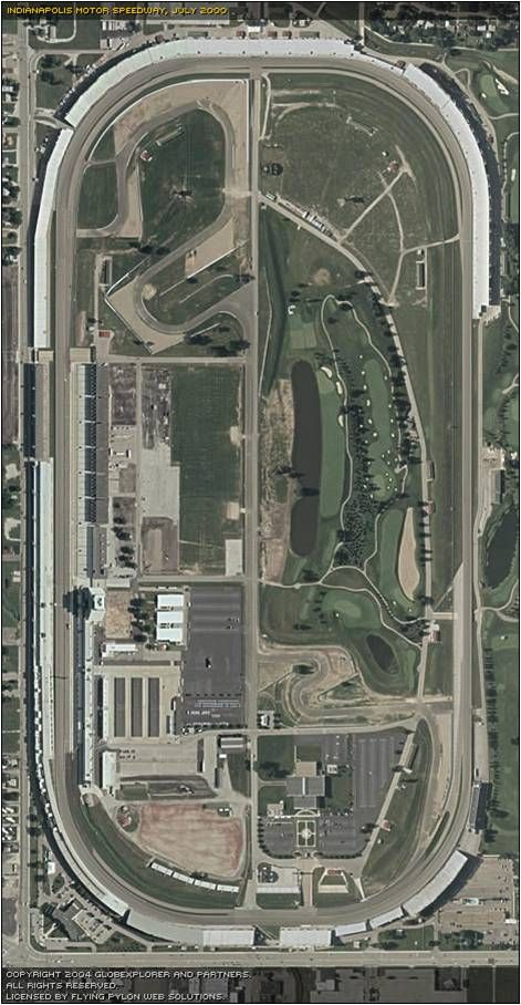 Aerial view--Indianapolis Motor Speedway--Day 2 of our 2014 trip.  Stayed at the Hyatt Regency Hotel, Indianapolis, IN.