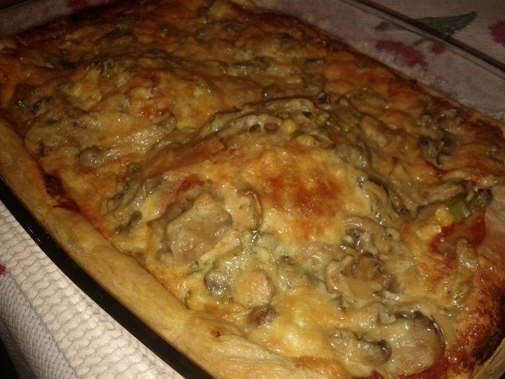 Πίτσα με φύλλο σφολιάτας