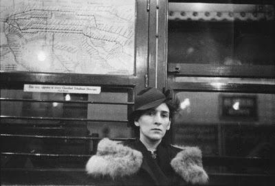 Helen Levitt Seated in Subway Car, New York, 1938 [by Walker Evans]