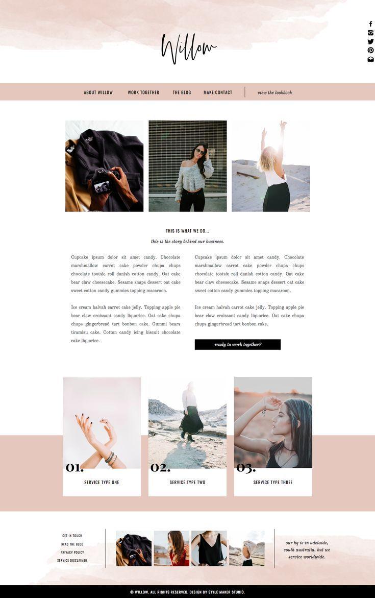 Fashion Website Template For Showit Platform Feminine Website Design Web Design Website Design