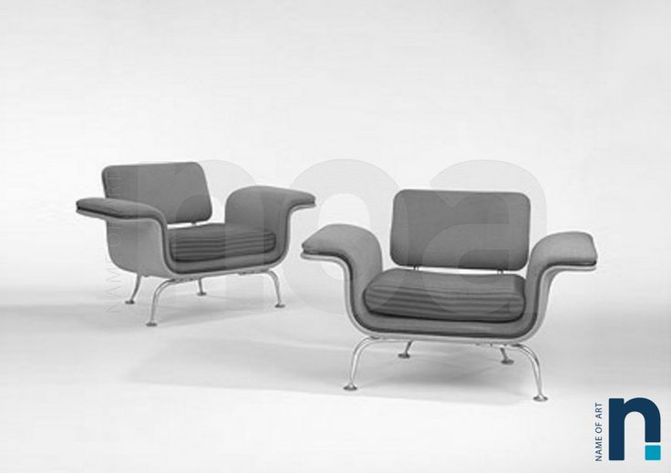 Alexander Girard fauteuil d'attente Fabricant Herman Miller for Braniff Airlines